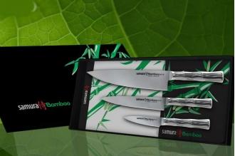 """Набор из 3 ножей """"Поварская тройка"""" Bamboo Samura SBA-0220"""