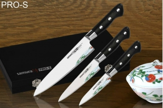 Набор из 3 ножей в подарочной коробке PRO-S Samura SP-0220/G-10