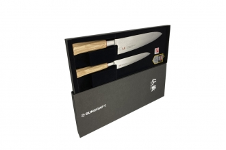 Набор кухонных ножей Senzo Twisted Octagon (Damascus/VG-10) Suncraft