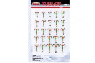 Набор тройников-мормышек N7 (из 25 шт.) от компании  Lindroos, Финляндия