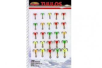 Набор тройников-мормышек N8 (из 25 шт.) от компании  Lindroos, Финляндия
