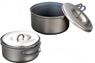 Набор титановой посуды 0,6 л + 0,9 л Non-Stick ECA411 Evernew
