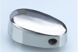 Навершие для рукояти ножа плоское с отверстием под темляк 241 (мельхиор)