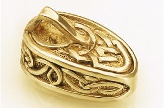 """Навершие для рукояти ножа """"Фантазийный орнамент"""" с кольцом 266 (латунь)"""