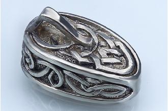 """Навершие для рукояти ножа """"Фантазийный орнамент"""" с кольцом 266 (мельхиор)"""