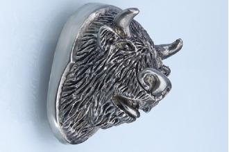 Навершие «Голова быка» 139 (мельхиор)