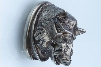 «Голова кабана матовая» 143 (мельхиор)