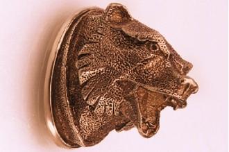Навершие «Голова медведя матовая» 144 (латунь)