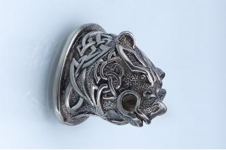 Навершие «Голова медведя» 106 (мельхиор)