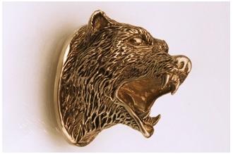 Навершие «Голова медведя» 124 (латунь)