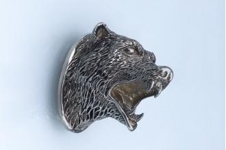 Навершие «Голова медведя» 124 (мельхиор)