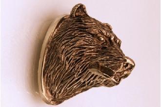 Навершие «Голова медведя» 135 (латунь)