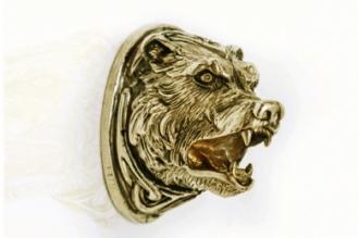Навершие «Голова медведя» 152 (латунь)
