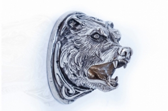 Навершие «Голова медведя» 152 (мельхиор)