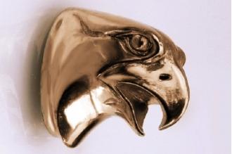 Навершие «Голова орла гладкая» 134 (латунь)