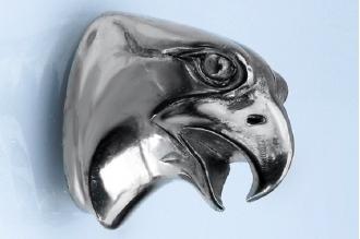 Навершие «Голова орла гладкая» 134 (мельхиор)