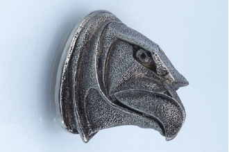 Навершие «Голова орла матовая» 145 (мельхиор)