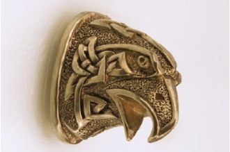 Навершие «Голова орла в наколках» 125 (латунь)