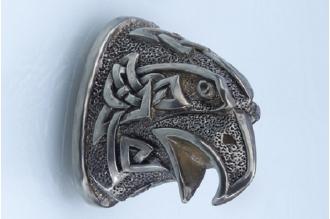 Навершие «Голова орла в наколках» 125 (мельхиор)