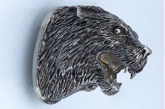 Навершие «Голова странного веселого зверя» 136 (мельхиор)