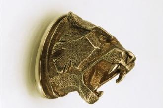 Навершие «Голова тигра матовая» 146 (латунь)