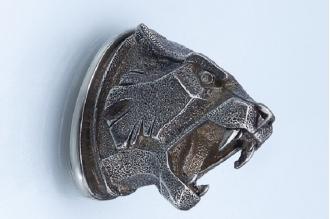Навершие «Голова тигра матовая» 146 (мельхиор)