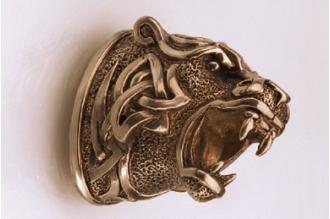 Навершие «Голова тигра в наколках» 127 (латунь)