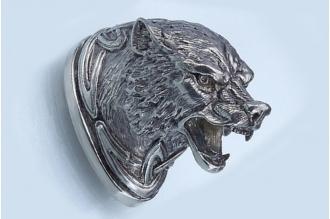 Навершие «Голова волка» 151 (мельхиор)
