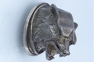 Навершие «Голова волка матовая» 142 (мельхиор)