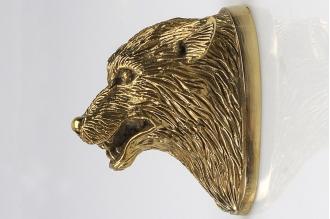 Навершие «Голова волка злого» 122 (латунь)