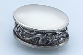 Навершие для рукояти ножа плоское круглое с орнаментом 286 (мельхиор)