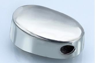 Навершие для рукояти ножа плоское с отверстием под темляк 226 (мельхиор)