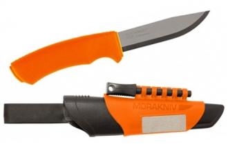 Нож Bushcraft Survival Orange Mora, Швеция