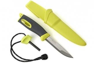 Нож для выживания с огнивом Swedish FireKnife (лайм)
