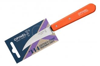 Нож для чистки овощей №114 (оранжевый) Opinel