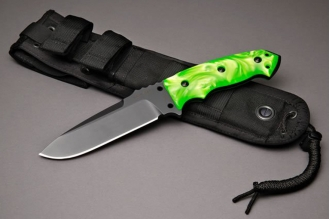 "Нож Extreme EX-F01 5 1/2"" Pearlized Green Hogue, США"