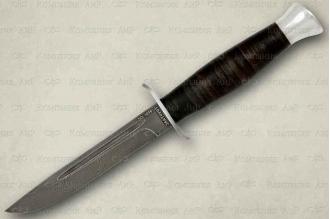 """Нож туристический """"Финка-2"""" (кожа/алюминий, ZDI 1016)"""