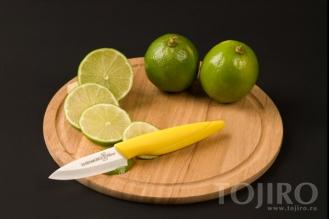 Нож из циркониевой керамики Hatamoto Home HC070W-YEL для чистки овощей и фруктов