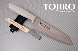 Набор: нож и точилка Forever Titanium Diamond TW16H-3S, Япония