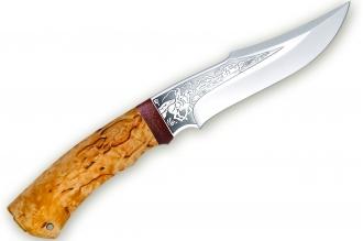 """Нож """"Хазар"""", карельская береза, АиР (Златоуст)"""