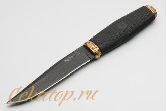 """Нож """"Кордон-2"""" (черный клинок, рукоять Elastron) Кизляр, Россия"""