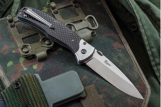 Нож складной Prime (D2, Satin, Carbon) Kizlyar Supreme