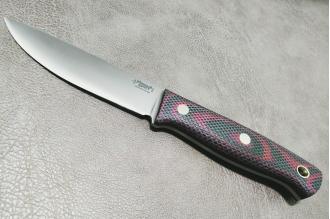 Нож Росомаха D2 (зелёно-красная микарта с насечкой) Южный Крест, Россия