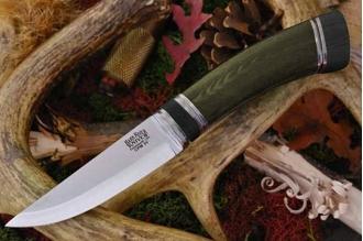 Нож Scandi CPM-3V с рукоятью из зеленой микарты