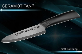 Нож Шеф 145 мм матовый Ceramotitan Samura SCT-0082m