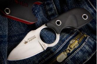 Нож шейный Amigo X (AUS-8, Satin) Kizlyar Supreme, Россия