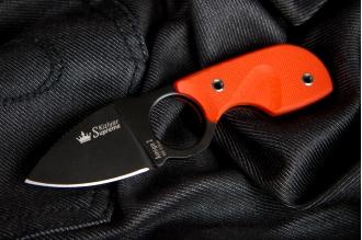 Нож шейный Amigo Z (AUS-8, Black) Kizlyar Supreme, Россия