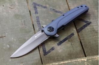Нож складной Biker X (D2, G-Titanium) Kizlyar Supreme, Россия