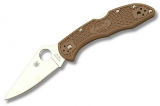 Складной нож Delica 4 Lightweights (VG-10, Brown FRN) Spyderco