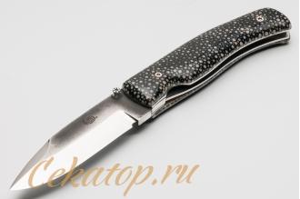 Нож складной Husky II (полированная кожа ската) Citadel, Камбоджа